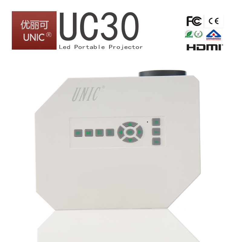 Global 1st design!!!HD 1080p support china mini projector short throw projector UNIC UC30