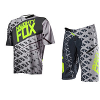 Naughty FOX Adult Motocross Gear Set Motocross ATV Dirt Bike Off-Road Race Suit Pant & Jersey Combo Short Jersey pants