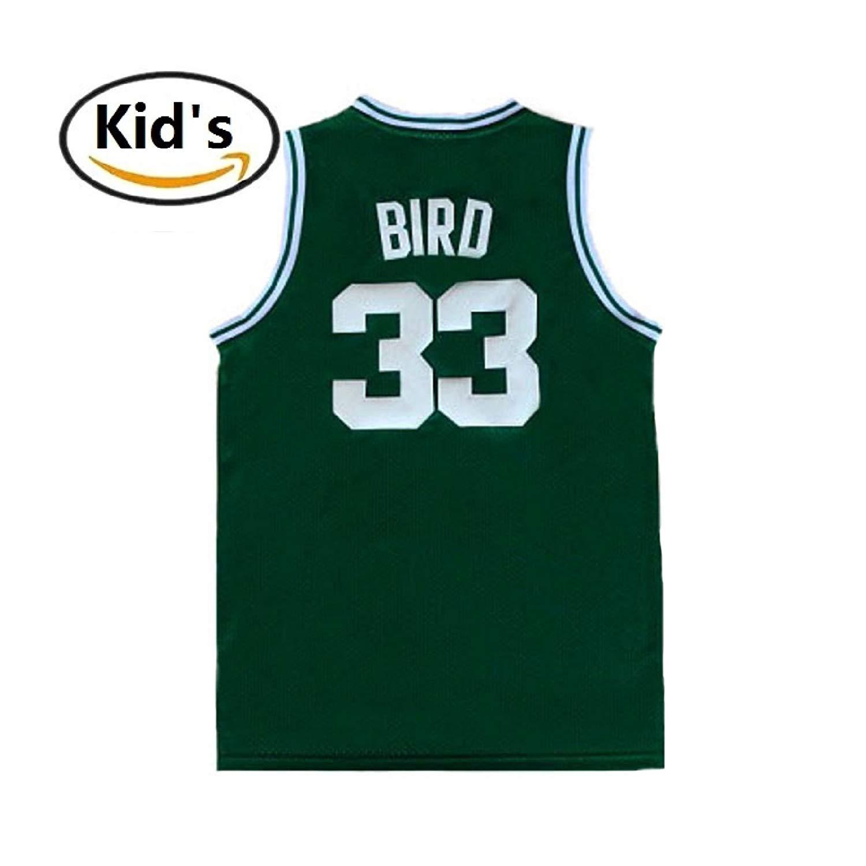 c49207bdd3b maodege Youth Larry Jerseys Boston 33 Kid's Basketball Jersey Bird Boy's  Jerseys Green