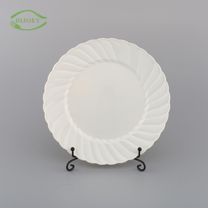 Direct factory unbreakable round ps sublimation eco friendly china wholesale disposable cheap restaurant plastic plates white