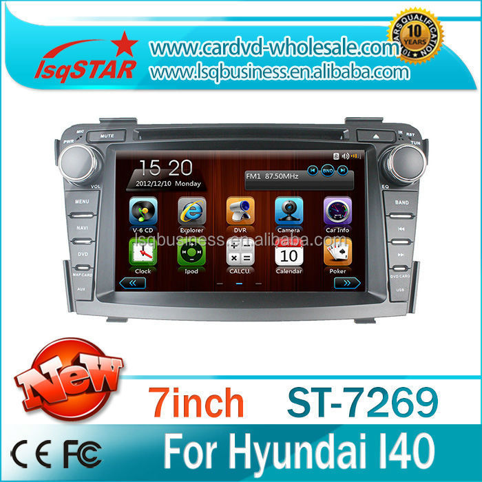China factory Car stereo radio dvd gps mp3 3g multimedia system for Hyundai I40
