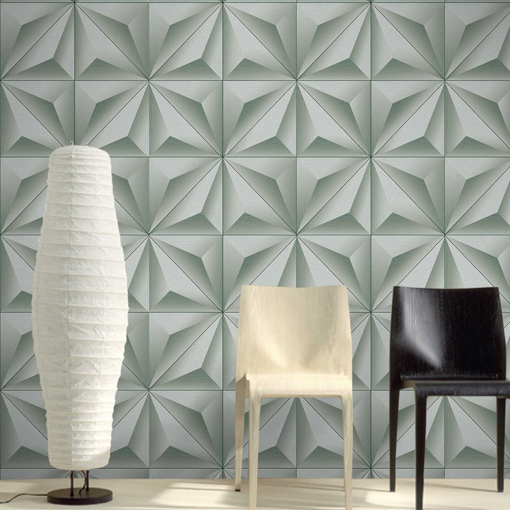 3d Panel Effect Wallpaper De Papel De Parede 3d