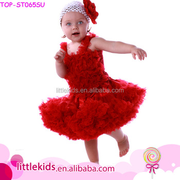 Wholesale kids Clothing Set Girls Summer Red Outfits Cute Baby Clothes Set For Birthday Toddler Ruffle Dress Outfit