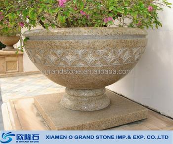 Alibaba & Custom Size Garden Granite Large Stone Flower Pots Stone Plant Pots - Buy Stone Plant PotsGranite Stone Flower PotLarge Stone Flower Pots Product on ...