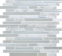 Crystal glass mix stone mosaic tile mother of pearl shell mosaic tiles