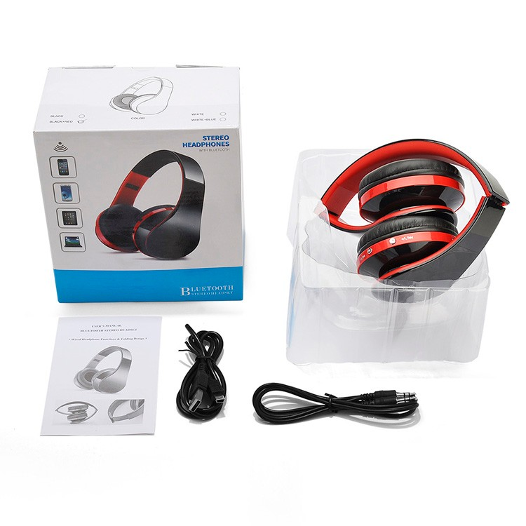 hands free headband bluetooth headset also can be wired. Black Bedroom Furniture Sets. Home Design Ideas