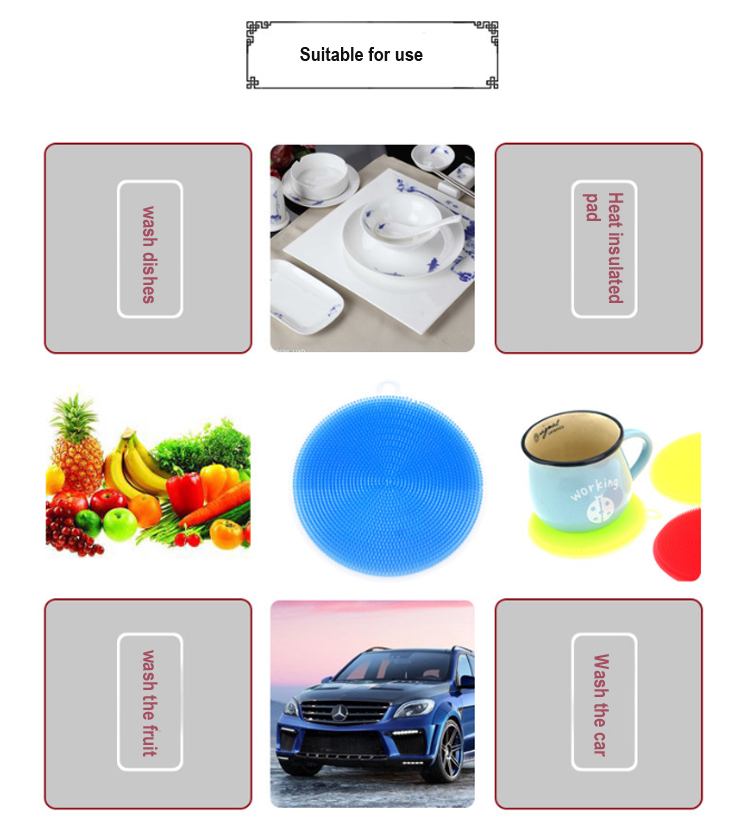 Wholesale antibacterial silicone dish scrubber for kitchen tools
