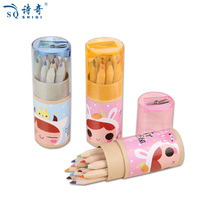 Promotional mini color pencil crayon set