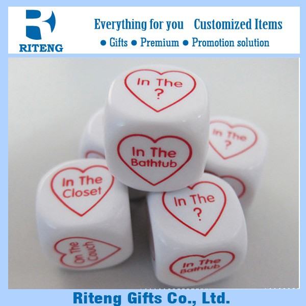 Promotional Logo Custom Acrylic Dice With Letter