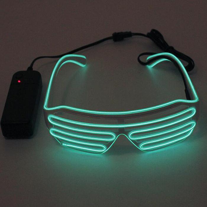 b5feb4cb0d0a3c Ray Ray Ray El Accessoires Dj Lumière Lumière Lumière Lunettes Led Parti  Club Nuit Ban UnPB8PYwv