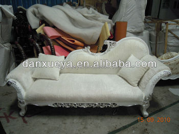 white royal vintage chaise lounge