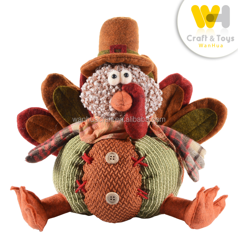 harvest festival table decoration handmade sitting pumpkin turkey for sale
