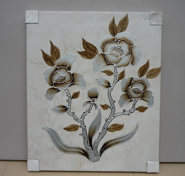 Wholesale Decoration Simple Glass Painting Flower Buy Glass