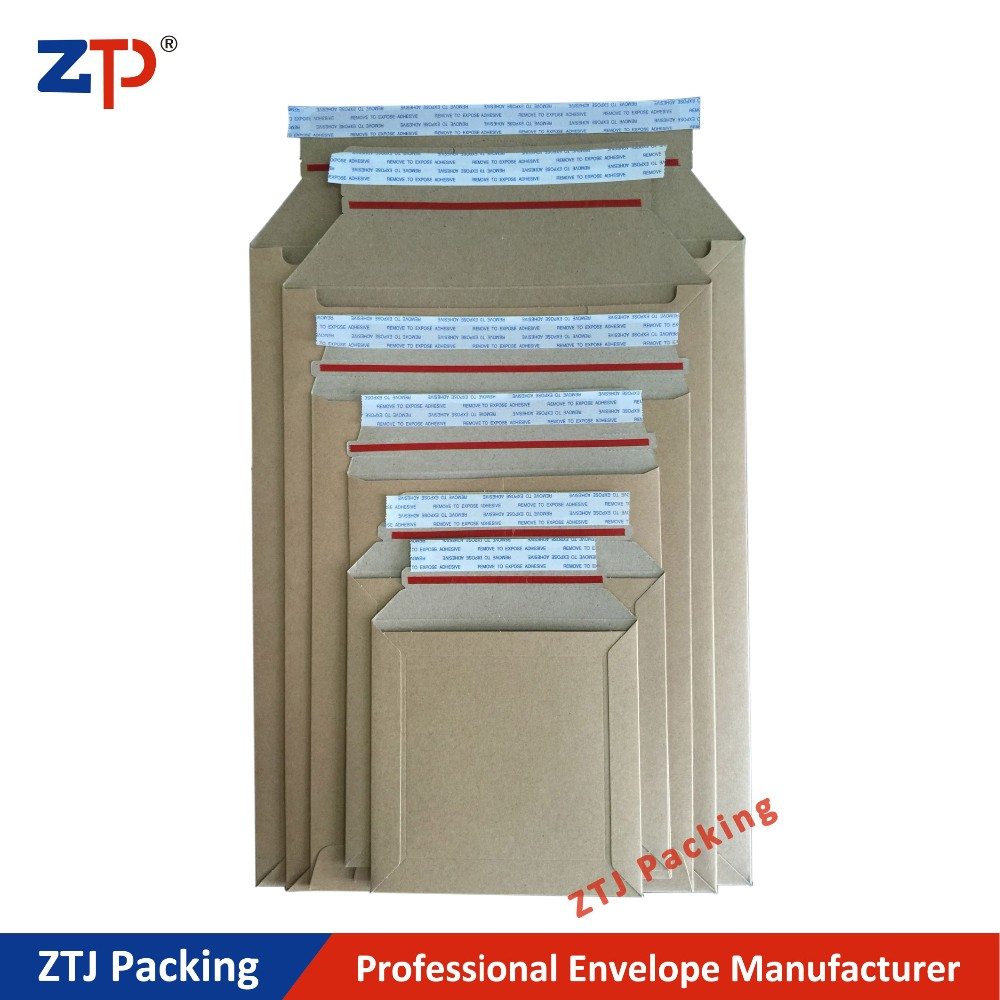 Hard paper board packing mailers shipping expanded envelopes