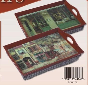 Kaifeng Hot Bean Bag Wooden Lap Tray With Cushion Handle
