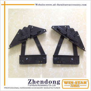 Iron Functional Furniture Fittings Adjustable Sofa Bed Hinge ZD-I007