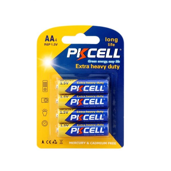Free Sample 105min 3 Years Shelf Life Zinc Carbon R6 AA 1.5V Battery Size UM-3 Dry Cell Batteries