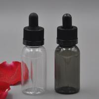 15ml 20ml 30ml 50ml 100ml PET black plastic eliquid dropper bottle with childproof cap
