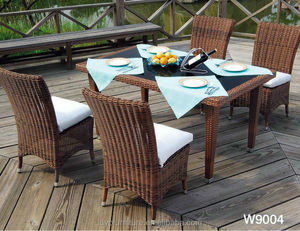 outdoor dining table and chair Rattan / Wicker,PE rattan+aluminum frame Material and Outdoor Furniture General Use rattan outdoo