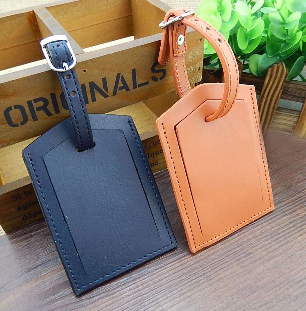 Wholesale Hand Stitched Personalized Double Sided Leather Luggage ...