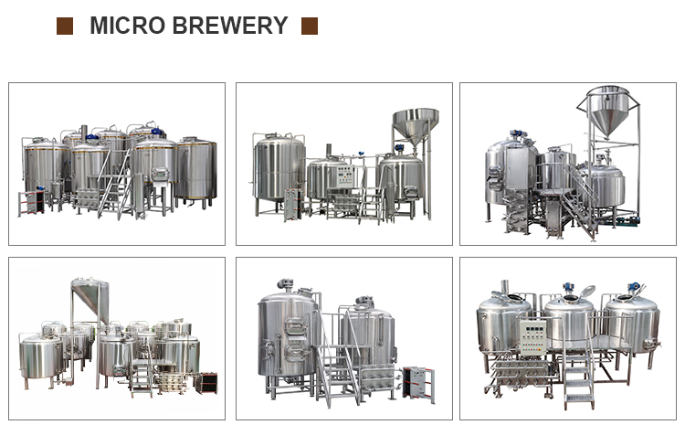 3BBL,5BBL,7BBL,10BBL,15BBL.20BBL brewing production plant for bright lager beer making machine