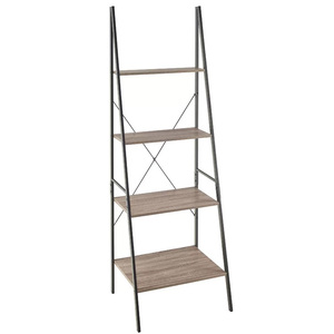 Home Decoration space saving living room wood corner shelf 4-tier storage rack
