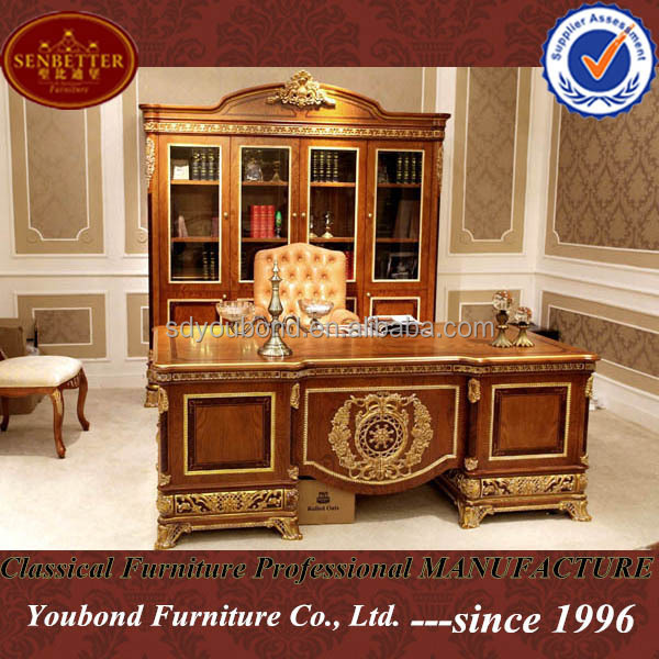2017 Clic Wooden Study Desk And Leather Chair For 0062 Royal Office