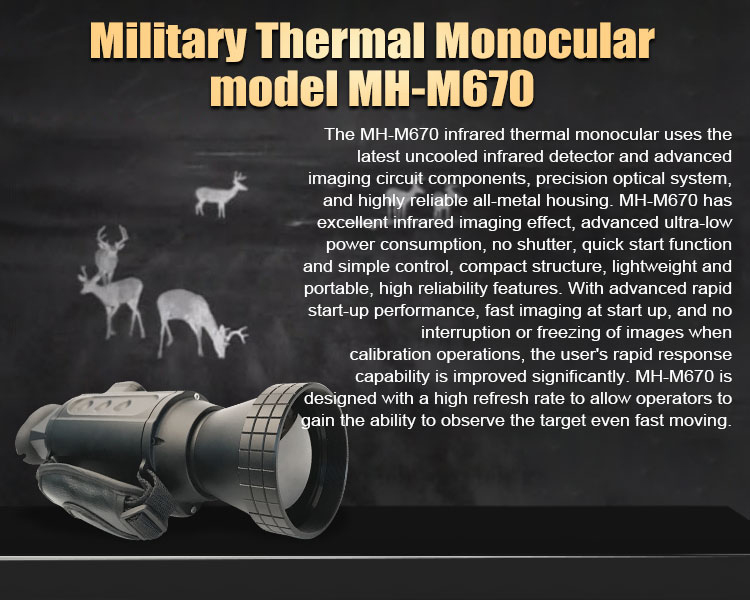 Thermal imaging hd rangefinder multifunction infrared night monocular
