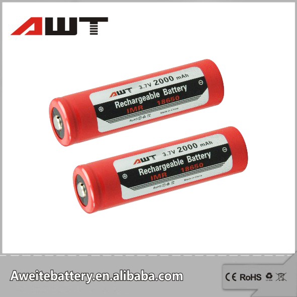 18650 lithium ion battery wholesale lithium ion 18650 3.7V 2000mAh rechargeable battery