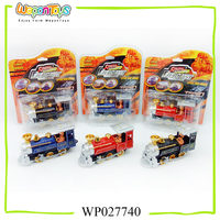good quality pull back diecast toy train with light for kids playing christmas metal toy train