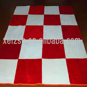 red and white microfiber polyester carpet export to Nepali