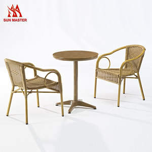Leisure Home Furniture Stacking Plastic Rattan Wicker Dining Chair