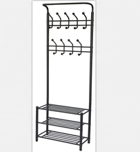 Iron standing clothing store display rack metal