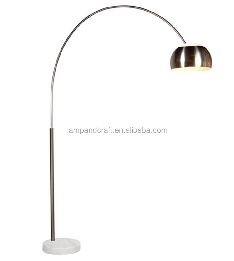 Hot Sell Product In Usa Modern Led Chrome Arc Floor Lamp Marble ...