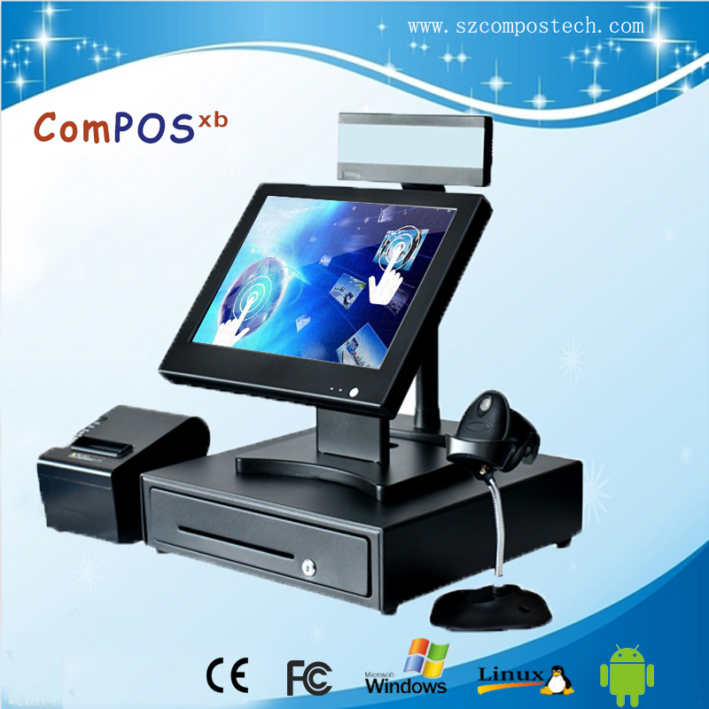 "15"" New product Duo core cheap restaurant pos system/billing software"