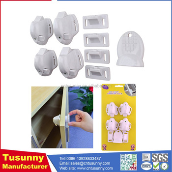 Magnetic Locks For Cabinets Drawer Hidden Baby Lock Security Latch Drill  Free
