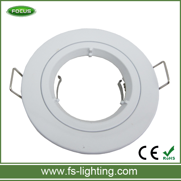 GU10 Cast Downlight/Ceiling Spotlight Recessed Retaining Ring with Lamp Holer