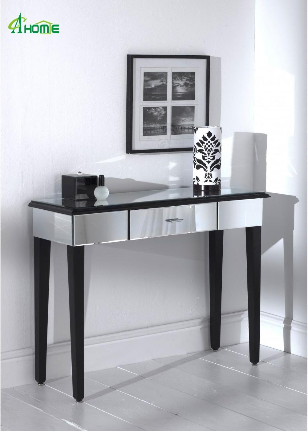 Diseño Simple De Plata De Cristal Dormitorio Muebles Espejo Tocador ...