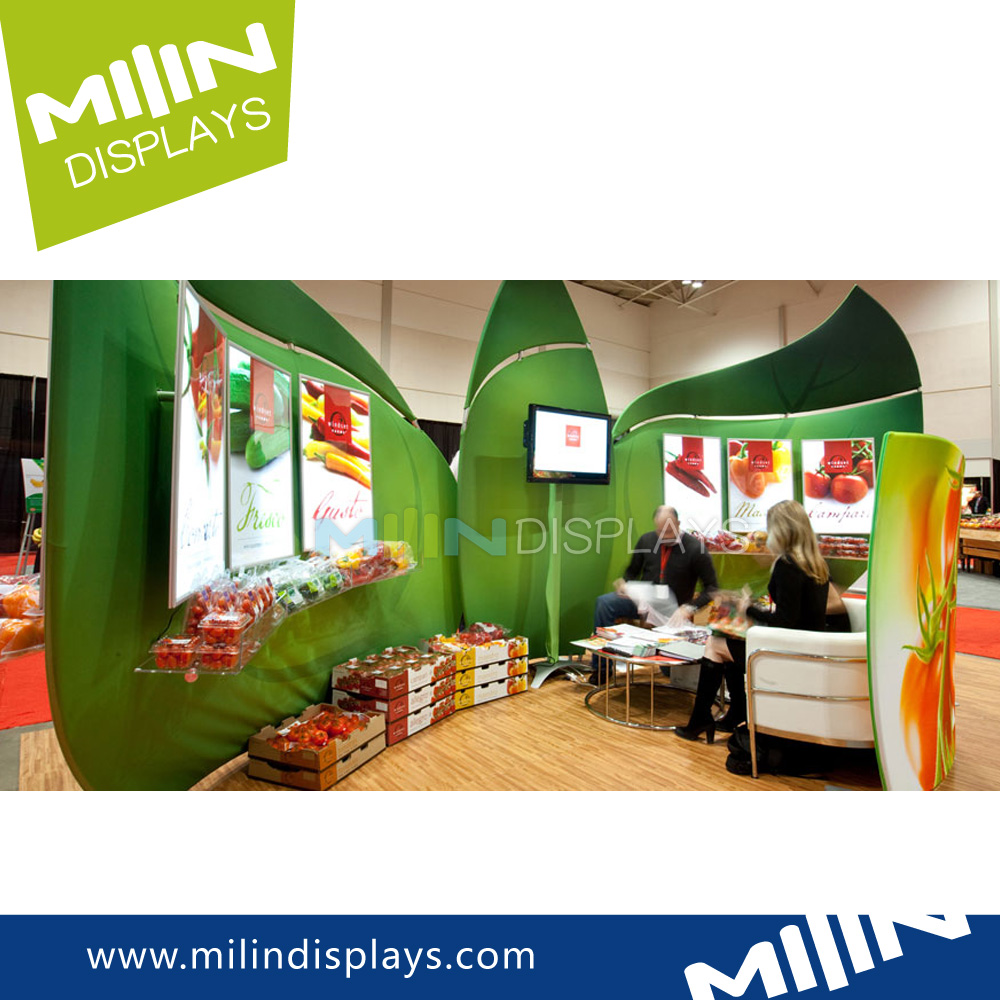 Fabric Exhibition Stand Zones : Exhibition elegant portable fruit and vegetable display stand