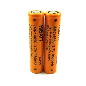 High power 15A discharging current HIBATT 3.7V 14650 950mah rechargeable li ion battery for e-cigarette starter kit 14650 mod