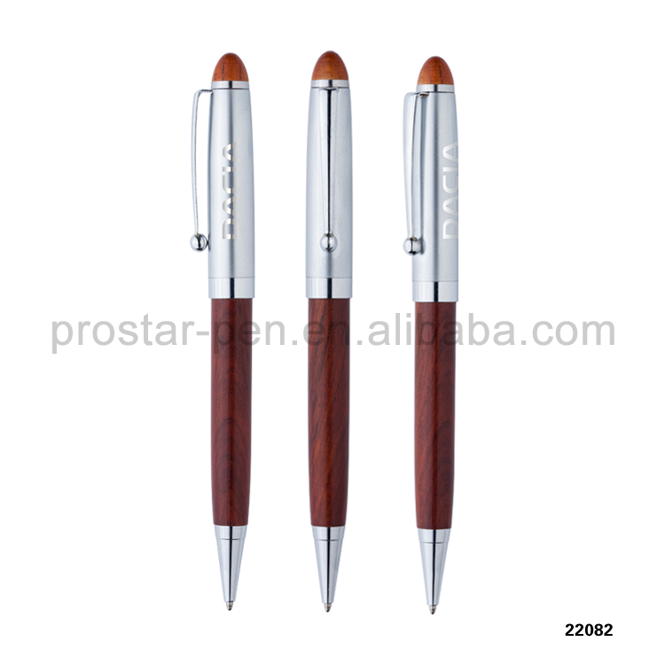 2015 new high quality oem business gift wood metal pen with engraved logo