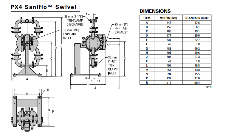 Px4 Metal Pneumatic Diaphragm Pump 1 5 Wilden Pump View Wilden