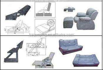 Heavy Click Clack Sofa Bed Metal Backrest Strong Ratchet Big Hinge