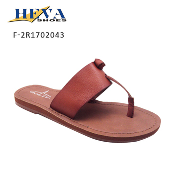 4a5277801a9743 New Arrival Women s Thong T-Bar Knot Flat Slip-On Slide Sandal with Wide