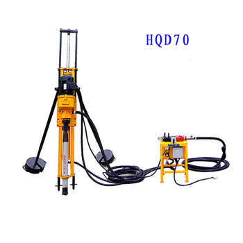 Easy Operation 12kw Small Hongwuhuan Air Compressor Drill Crawler Mounted Rotary Pneumatic Dth Drilling Rig For Sales