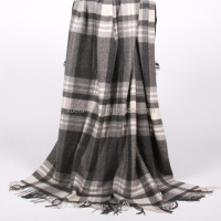 home use tartan wool blanket