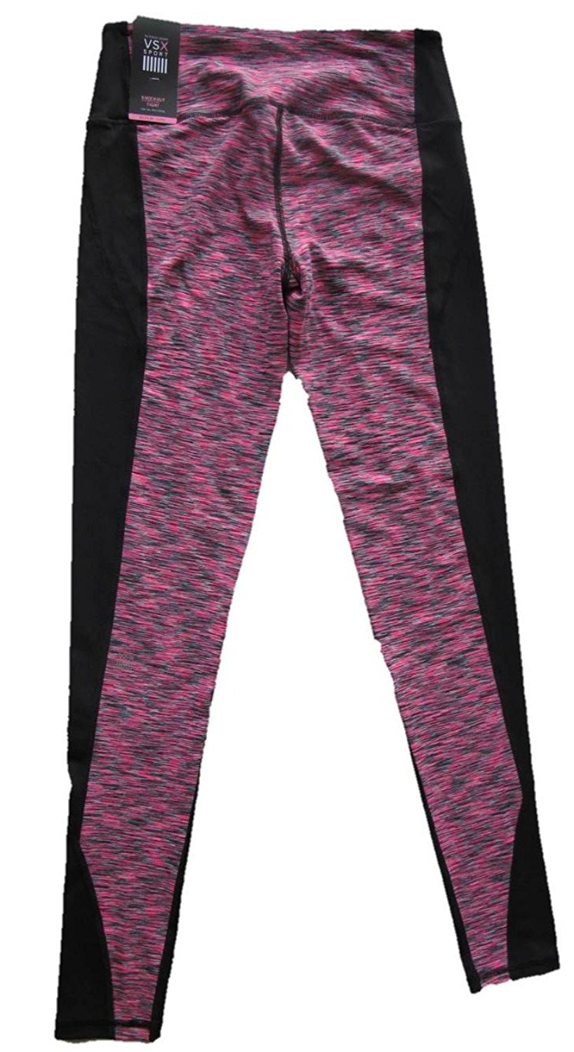 e8c6db15db Get Quotations · Victoria's Secret Sport VSX Knockout Tight Yoga pant Pink  Marl Black