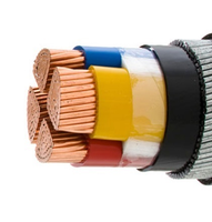 Stock supply PVC or XLPE Insulated 4 core armoured cable 4 core 10mm2 copper cable 120mm electric copper power cable