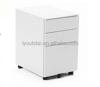 Office High Quality Vertical Metal Movable 3 Drawer A4 Filing Cabinets
