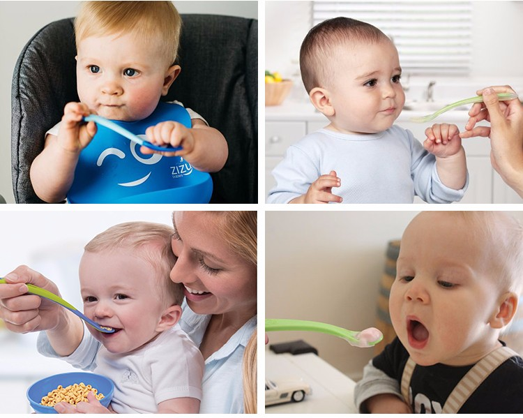 Silicone Anti-bacterial Baby Spoon